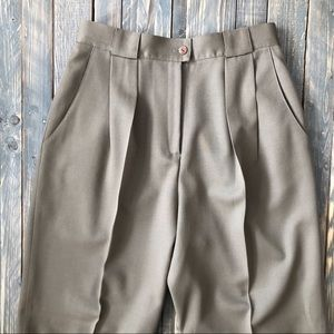 Vintage Wool High Waisted Trousers